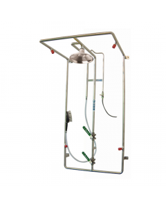 Wall-Mounted Two-Stage PPE Decontamination Shower