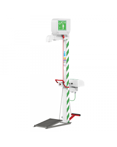 Immersion heated  safety shower with eye wash, body spray and handheld eye bath