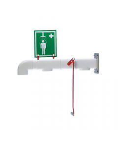 Jacketed and insulated wall mounted safety shower