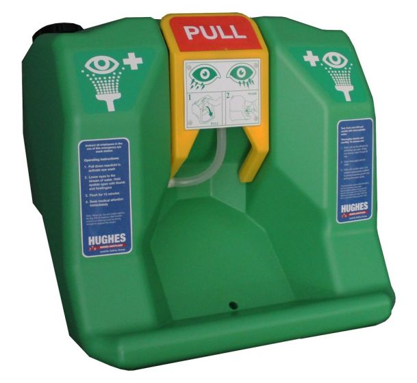 Portable self-contained gravity fed eye wash - 60 litre