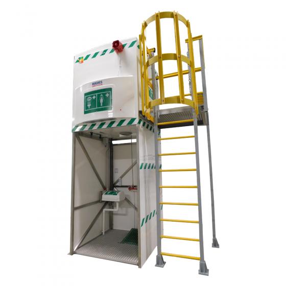 GRP Ladder Platform