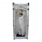 Portable decontamination misting shower
