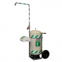 Mobile self-contained safety shower with eye wash - 114 litre