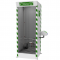Multi-nozzle cubicle safety shower