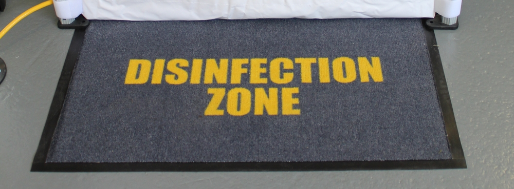 disinfection zone banner