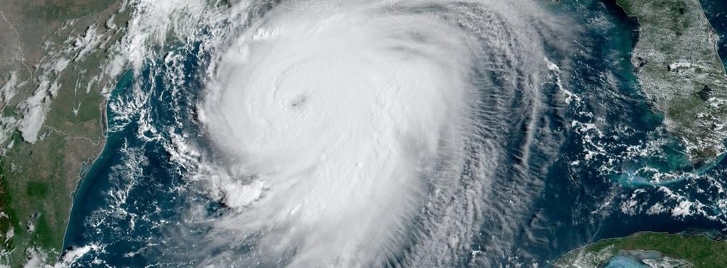 image of hurricane laura from satellite